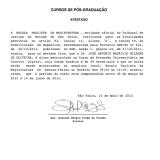 Atestado de Matrícula José Antônio Maurílio Milagre de Oliveira