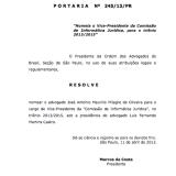 Nomeação Vice-Presidente Informatica Juridica