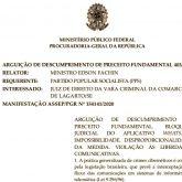 Fomos citados em 3 (três) oportunidades na Manifestação da PROCURADORIA GERAL DA REPÚBLICA 154141/2020, em trâmite no Supremo Tribunal Federal – STF